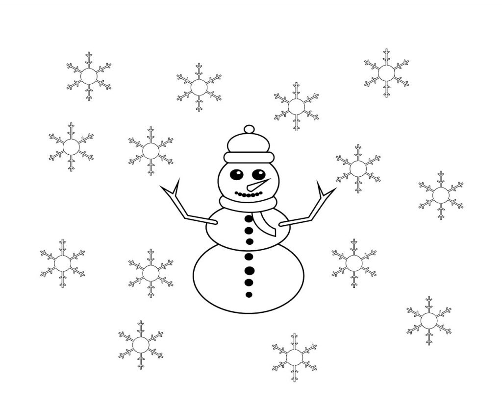 January Coloring Pages Preschool Toddler Kids To Print Kindergarten