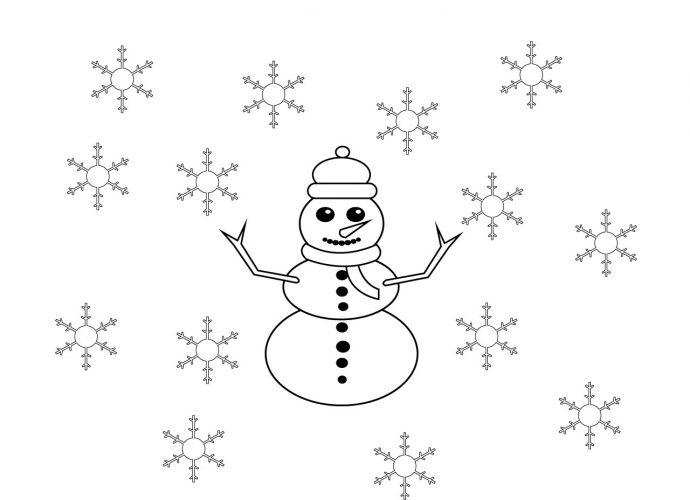 January Coloring Pages free Printable