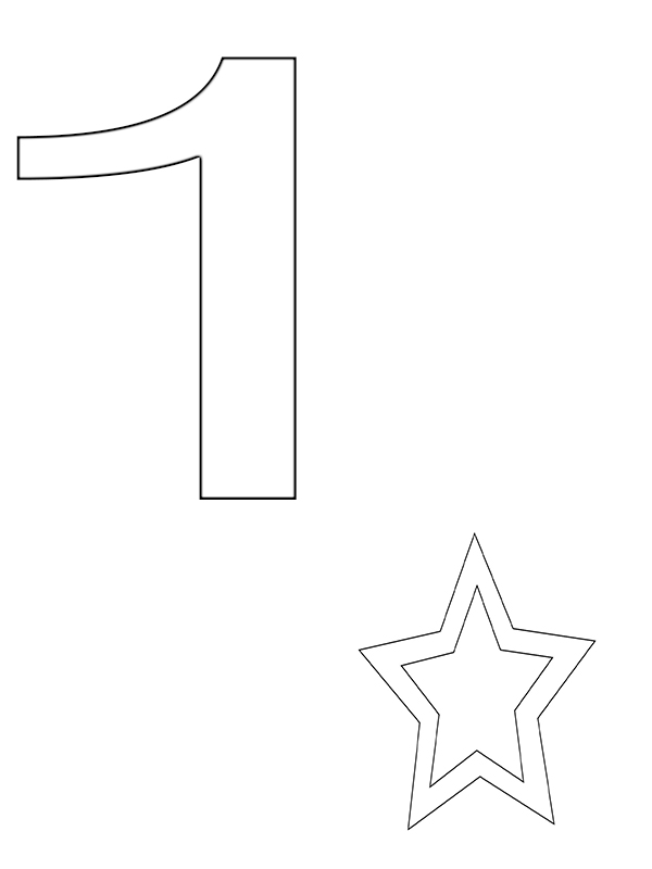 Top 10 Number 1 Coloring Page For Toddlers Free Printable Print For