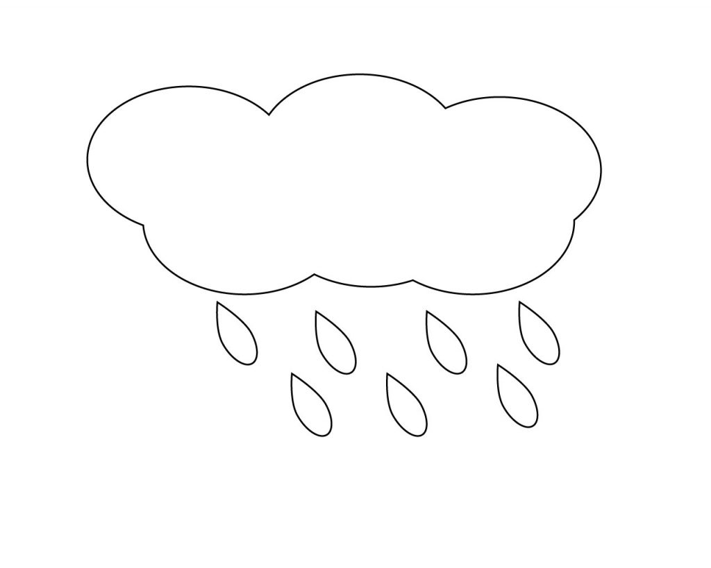 Amazing Raindrop Coloring Page