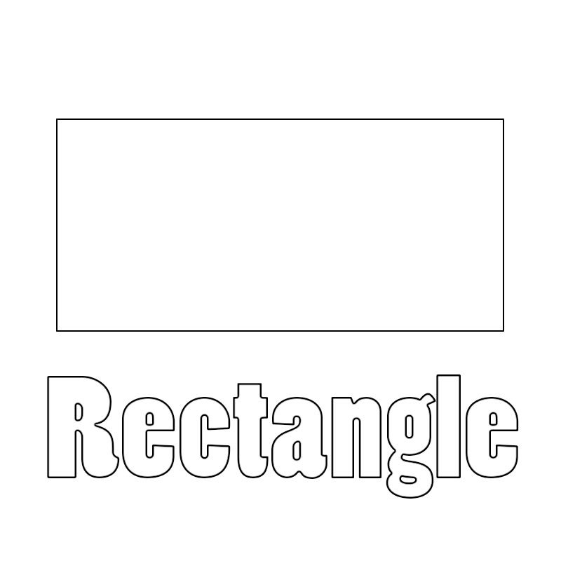 rectangle coloring pages for preschoolers | Rectangle Coloring Pages