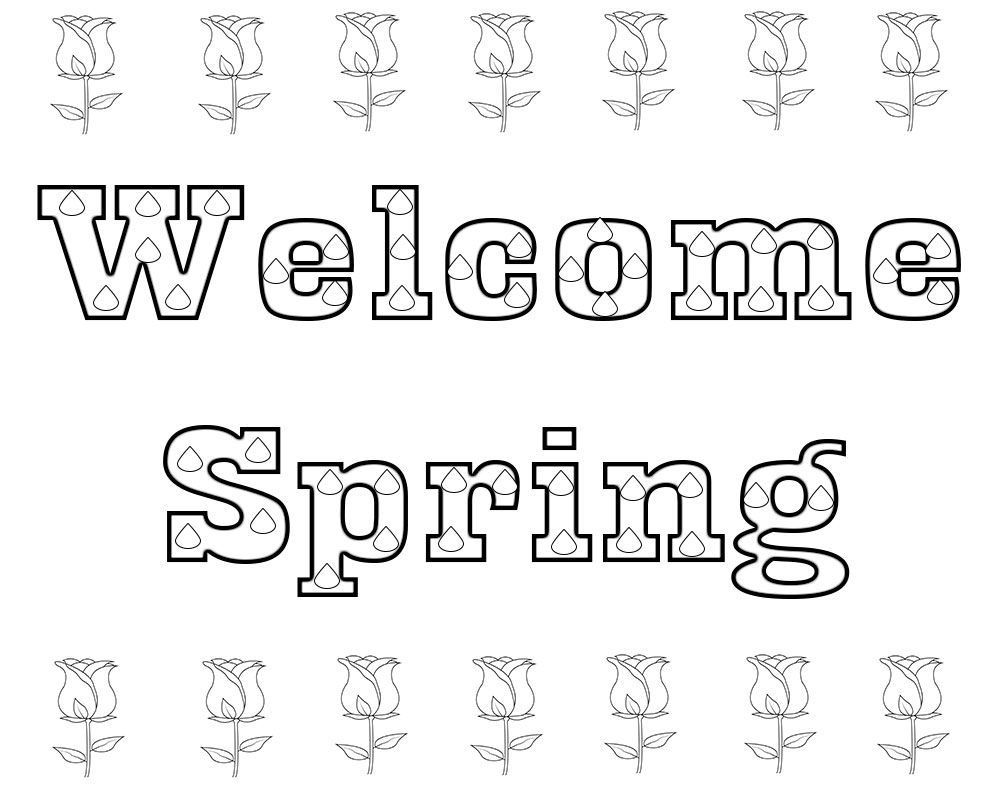 welcome spring coloring pages - welcome spring coloring pages free printable free download