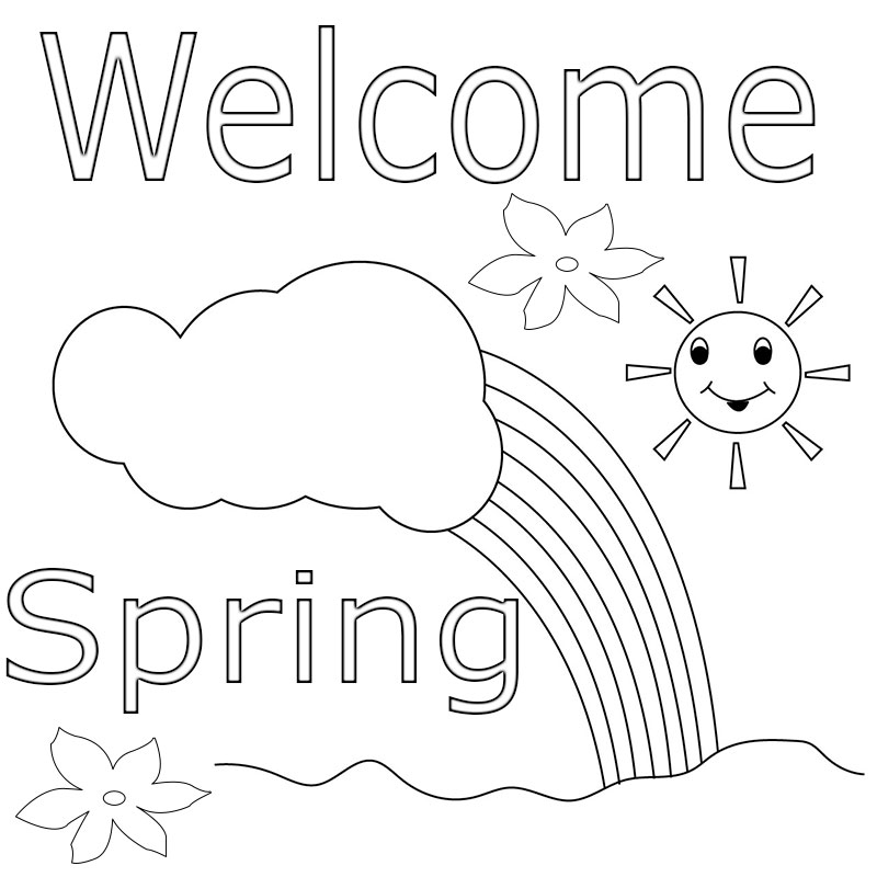 welcome spring coloring pages - photo#24