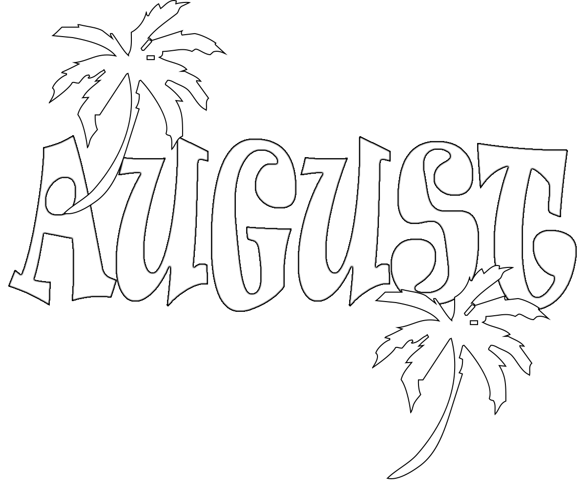 August Coloring Pages Preschoolers Free, Adults,printable