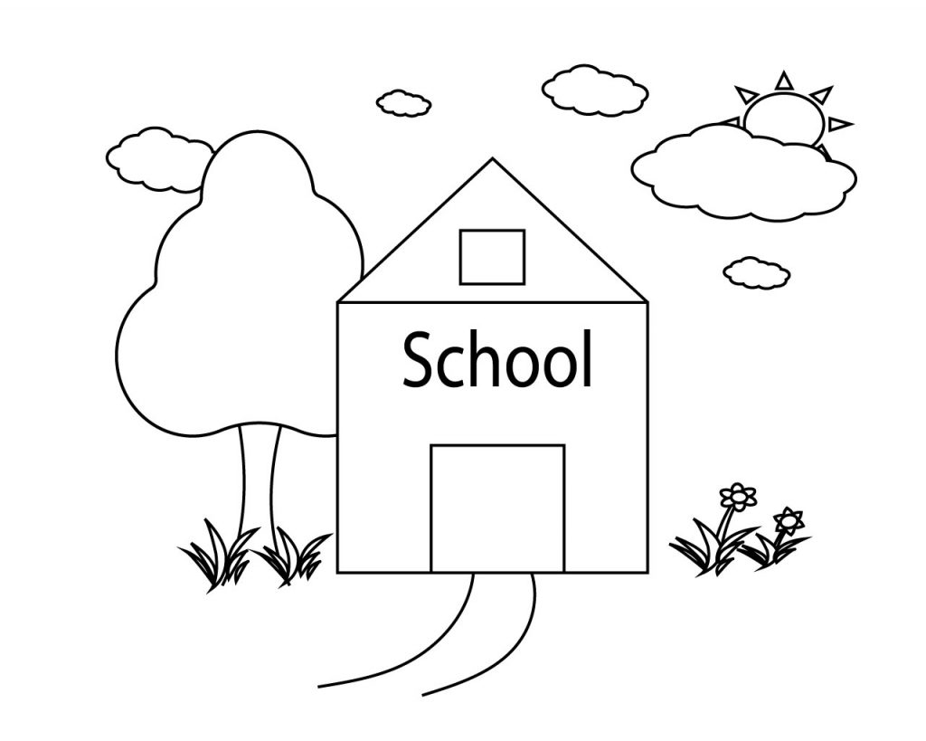 Back To School Supplies Coloring Pages