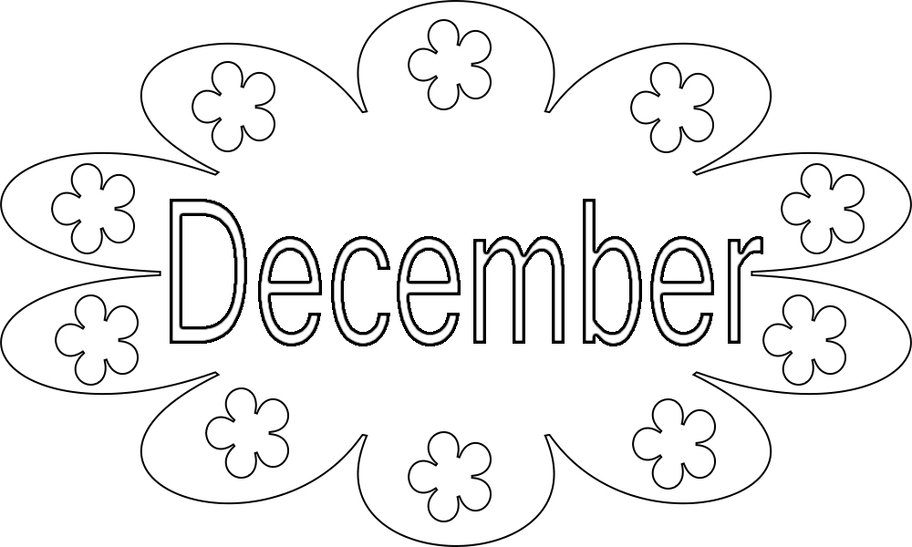 December Coloring Pages Kindergarten Free, Adults,Preschool ...