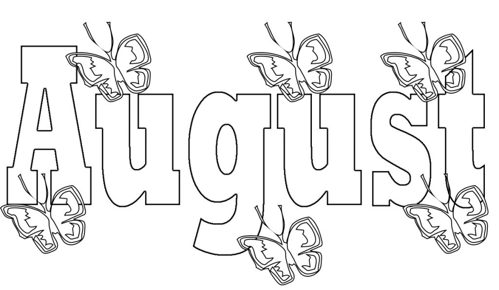 Top 15 August Coloring Pages Preschoolers Free Very Unique