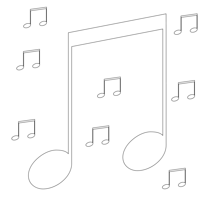 Easy Music Notes Coloring Pages Free Free,Printable,Adults