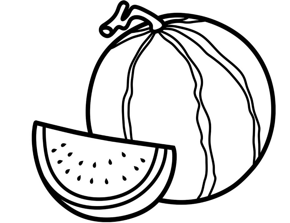 Watermelon Coloring Pages To Print Watermelon Coloring ...