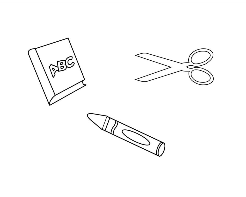 Free Printables School Supplies Coloring Pages