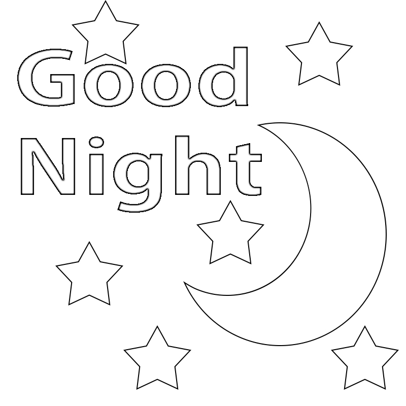 coloring pages night | Good Night Coloring Pages Printable,Goodnight Moon