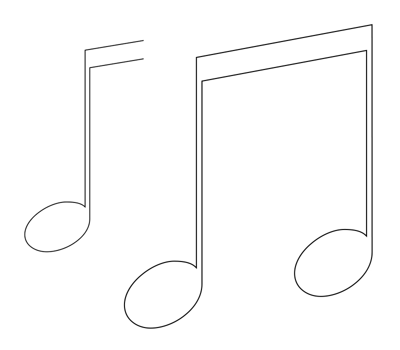 - Easy Music Notes Coloring Pages Free  Free,Printable,Adults,Preschoolers,Symbols