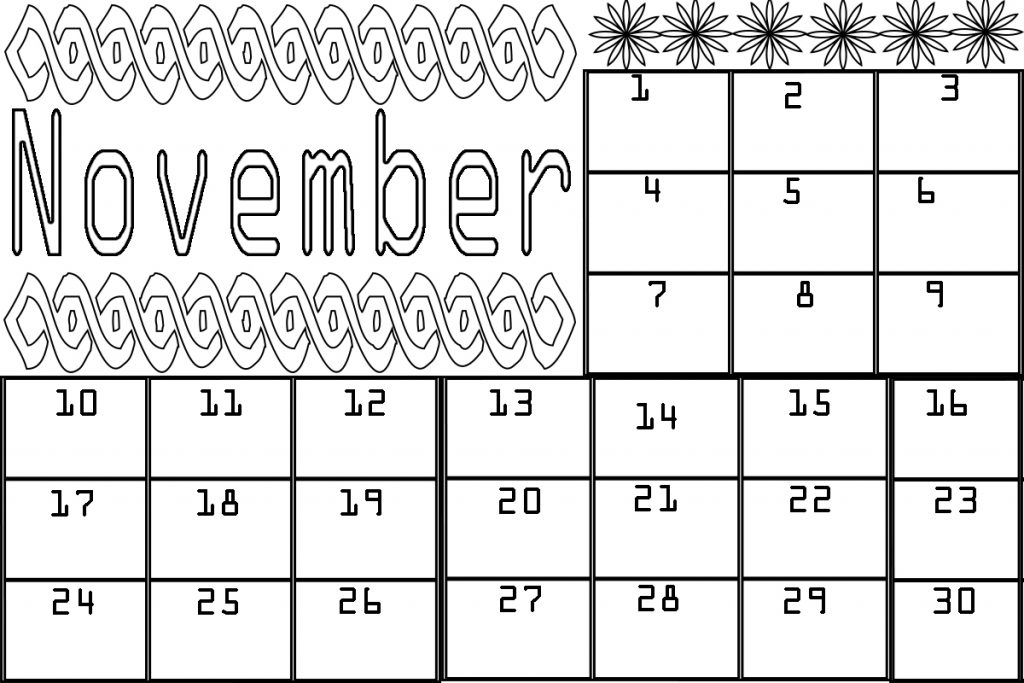 November-Calendar-Coloring-Pages