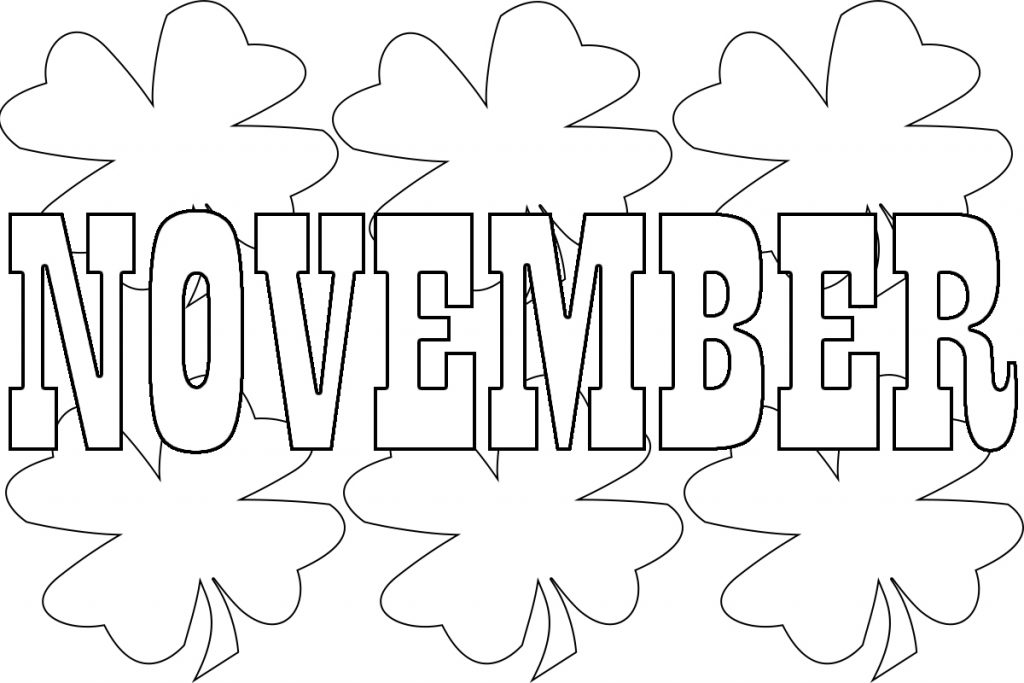 Best November Coloring Pages For Preschoolers,Toddlers,Print ...