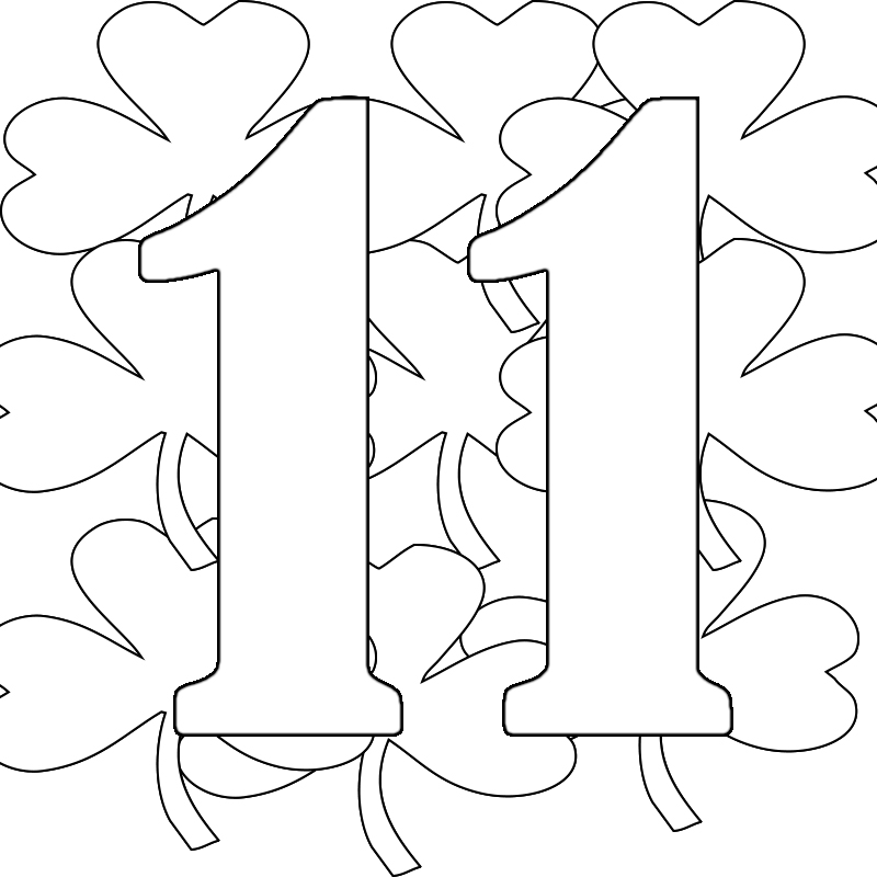 Number Eleven Page Coloring Pages