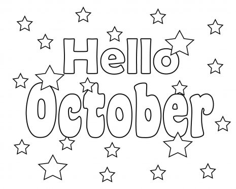Top 10 October Coloring Pages for preschoolers ...