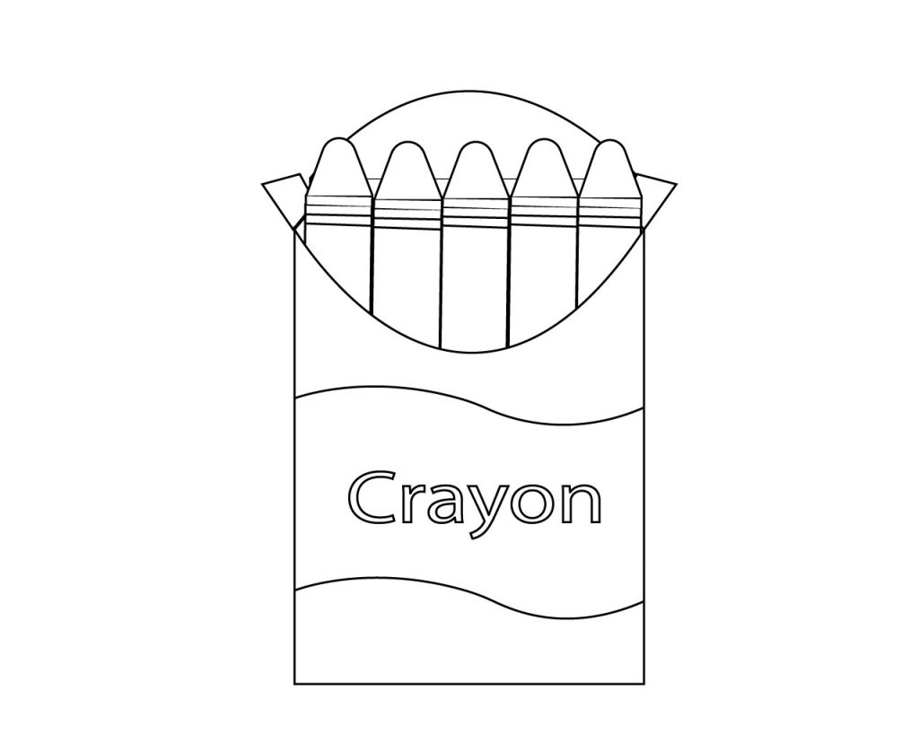 School Supplies Coloring Pages Free