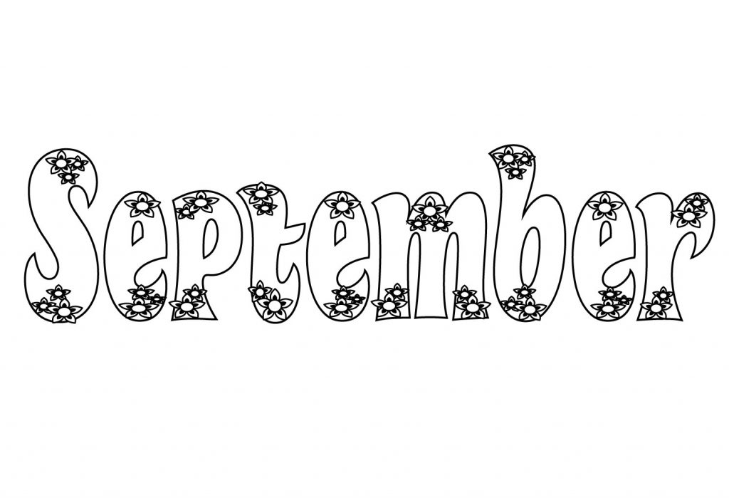 september printable coloring pages - photo#36