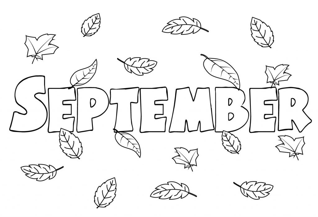 september printable coloring pages - photo#10