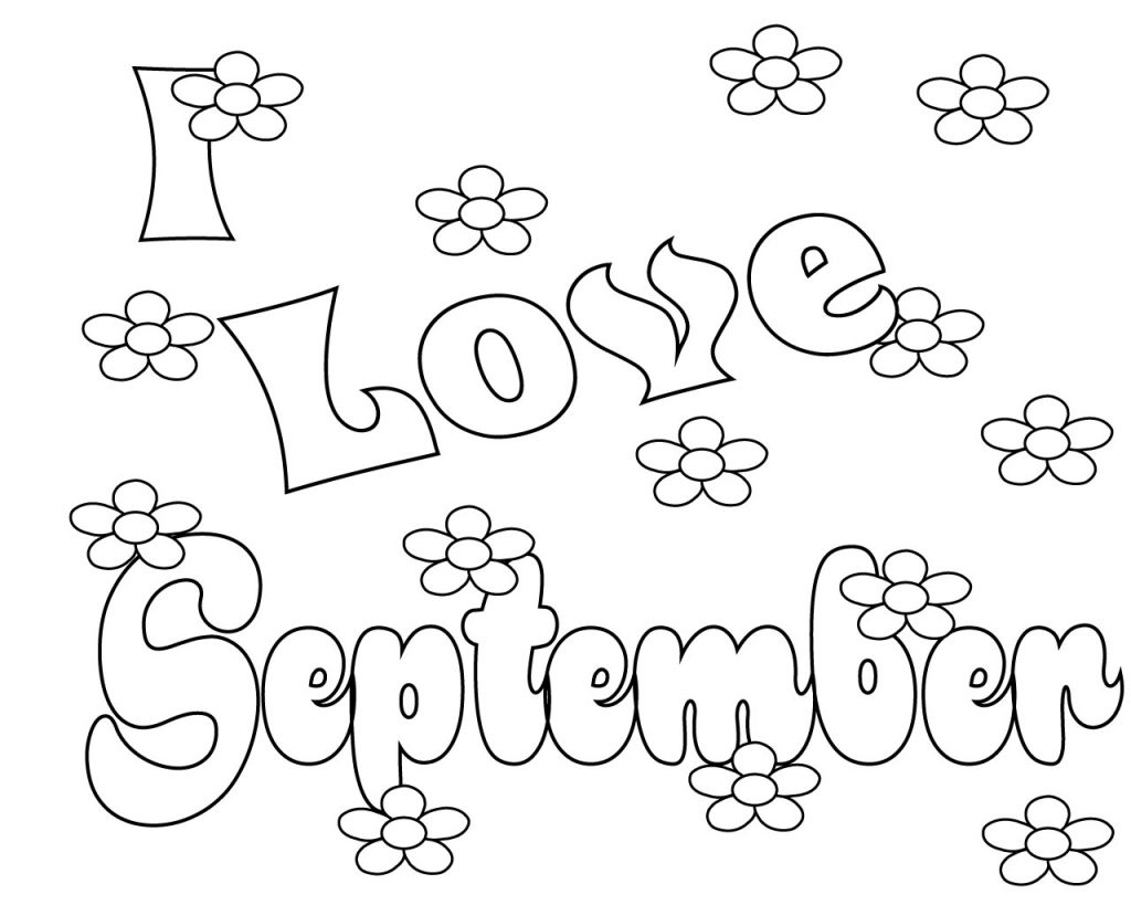 September Coloring Pages To Print, Preschool, Kindergarten, Free ...