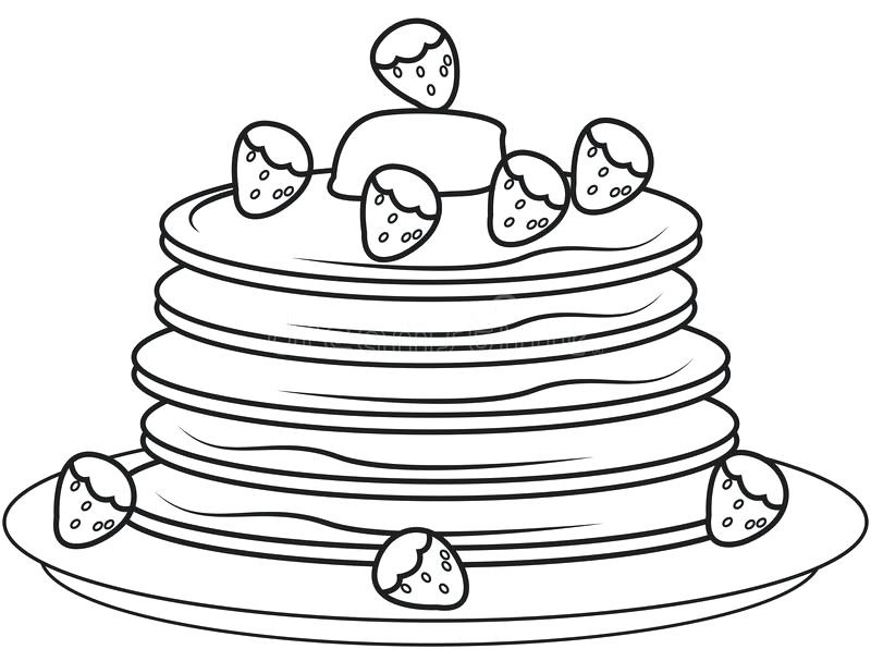 Strawberry Cake Coloring Pages