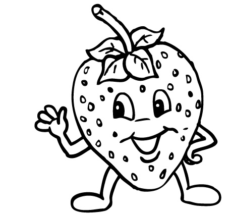 Strawberry Coloring Pages Online