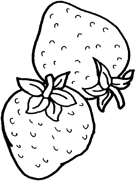Strawberry Coloring Pages Printable