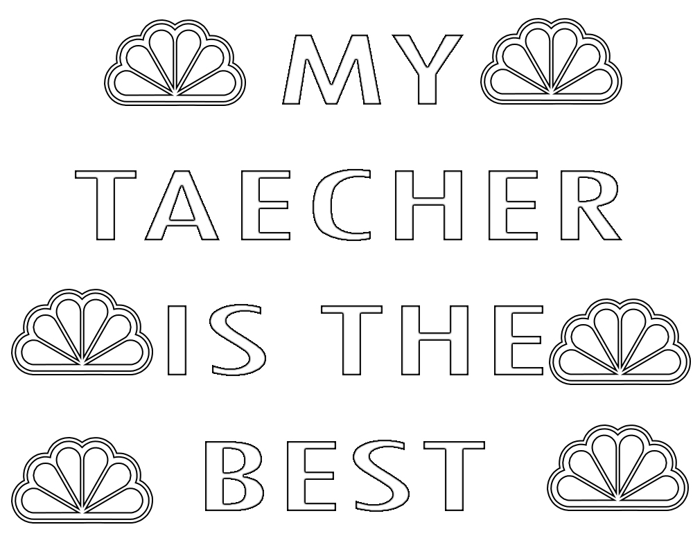 Teacher Appreciation Coloring Pages Week Printable