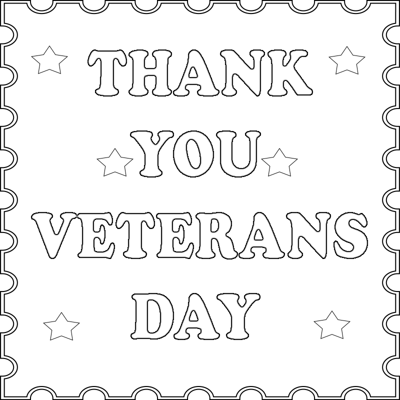 32 Thank You Veterans Day Coloring Pages - Free Printable ...
