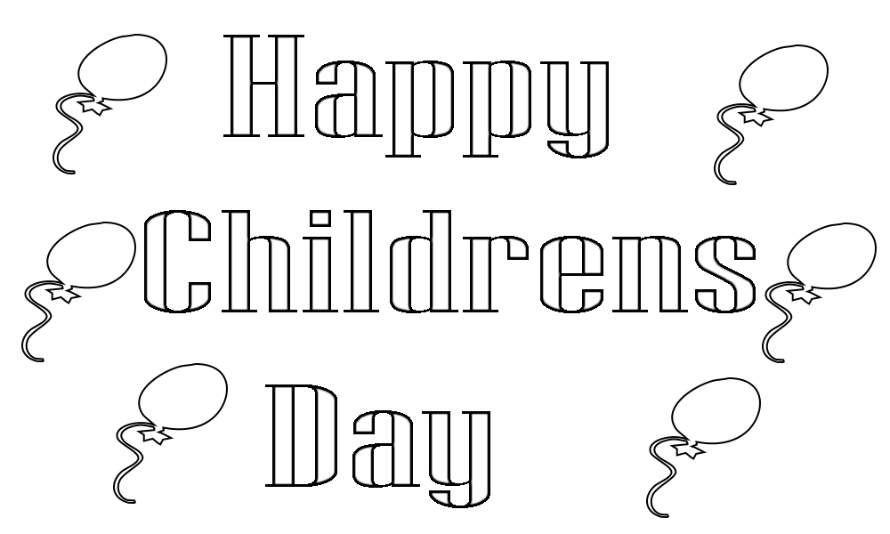 Children's Day Coloring Page