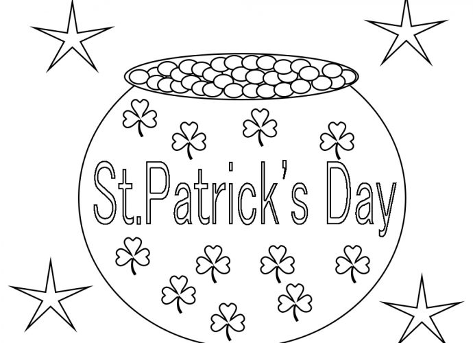 StPatricks Day Coloring Pages Printable Free