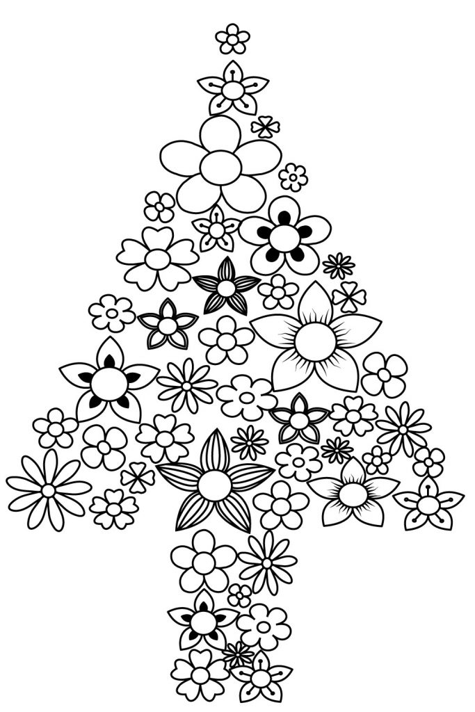 Free Coloring Pages Of Christmas Trees, Download Free Clip Art ... | 1024x683