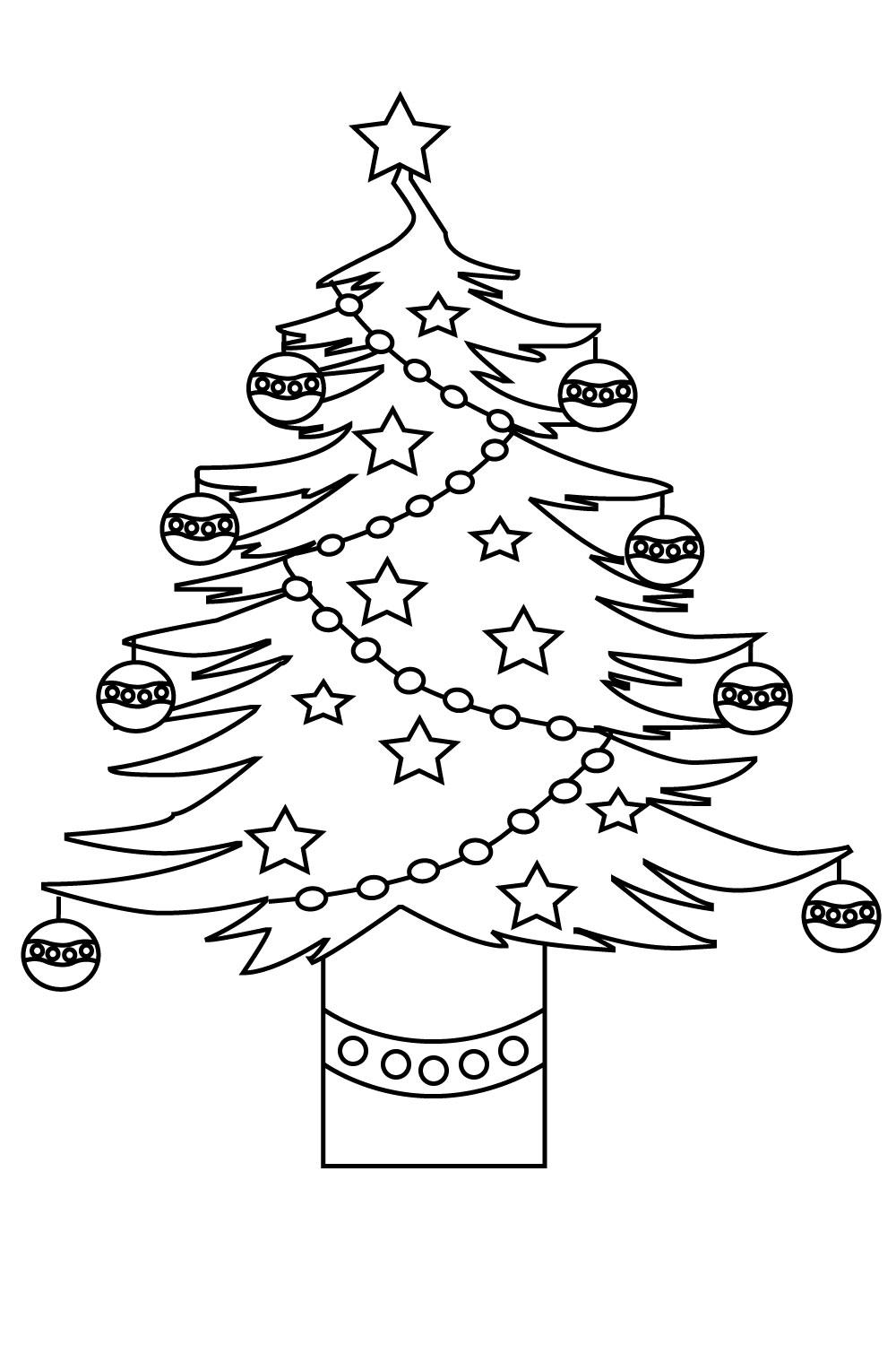 tree coloring pages children - photo#46