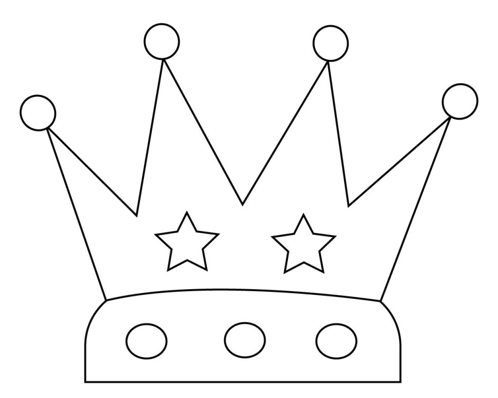 graphic regarding Crown Coloring Pages Printable named Crown Coloring Webpages Toward Print, Easy, Birthday, Princess