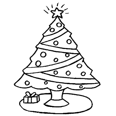 christmas tree coloring pages for kidsfree printable