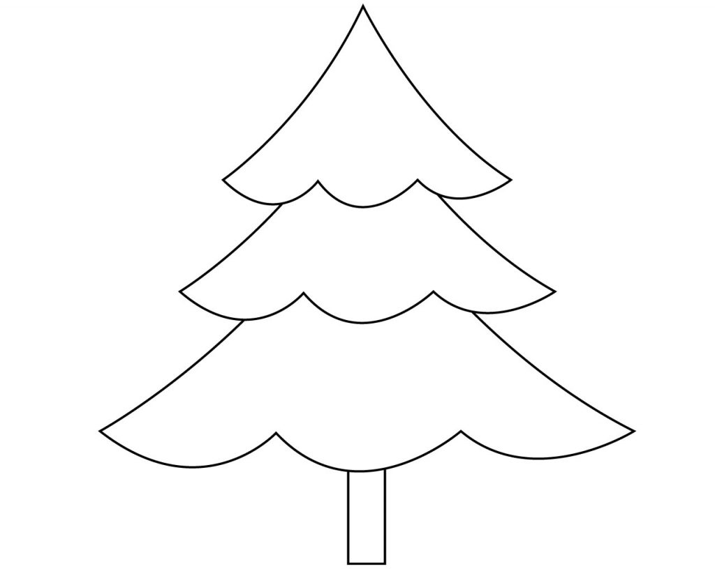 Christmas Tree Coloring Page.Christmas Tree Coloring Pages For Kids Free Printable