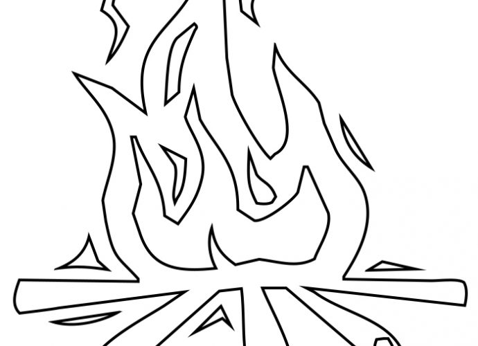 Flame Coloring Pages Free