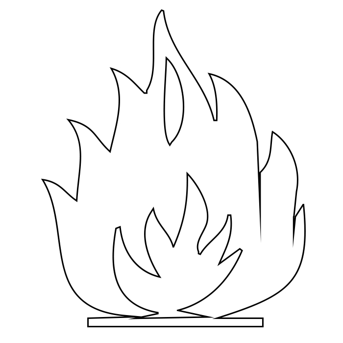 Flame Coloring Pages