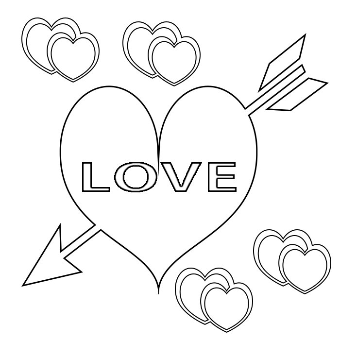 Free Printable Valentine Heart Coloring Pages