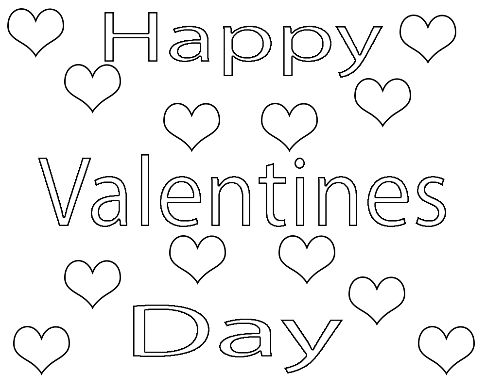 Happy Valentines Day Coloring Pages free Printable
