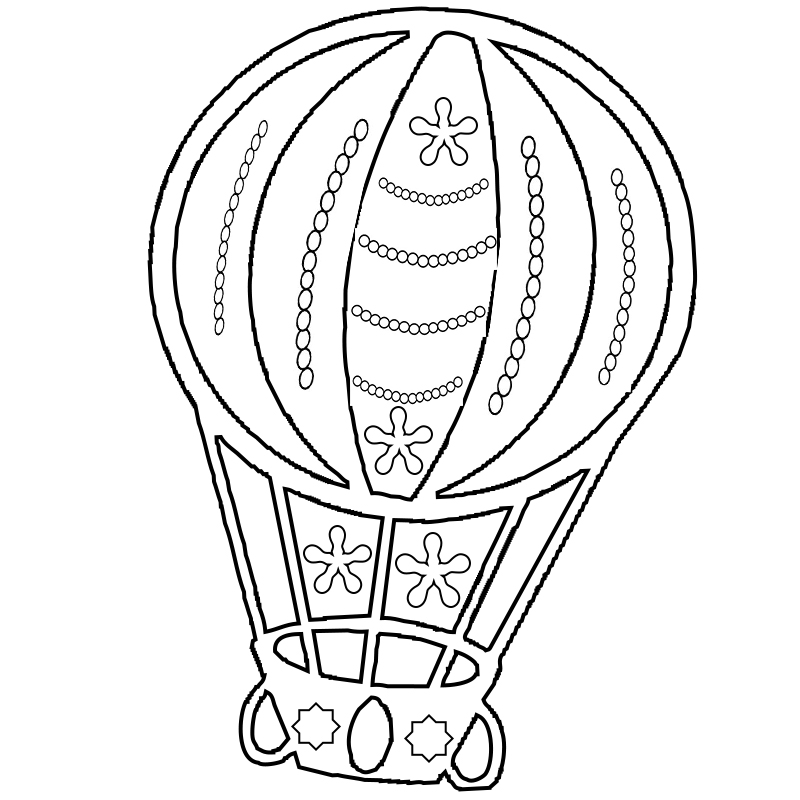 Hot Air Balloon Coloring Page Free Printable Adults To Print