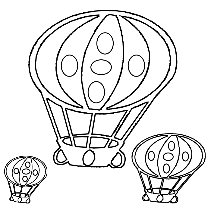 Hot Air Balloon Coloring Pages to Print