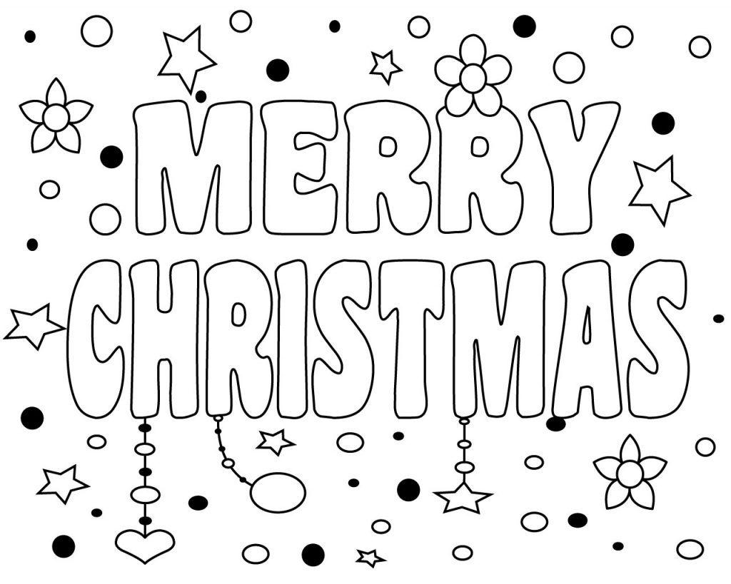 Free Printable Merry Christmas Coloring Pages For Kids