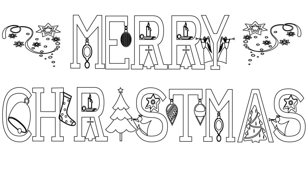 Merry Christmas Coloring Pages Free Printable