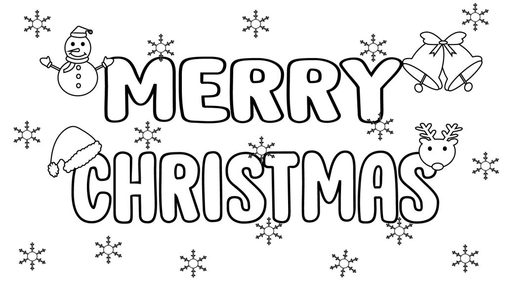 Merry Christmas Coloring Pages To Print