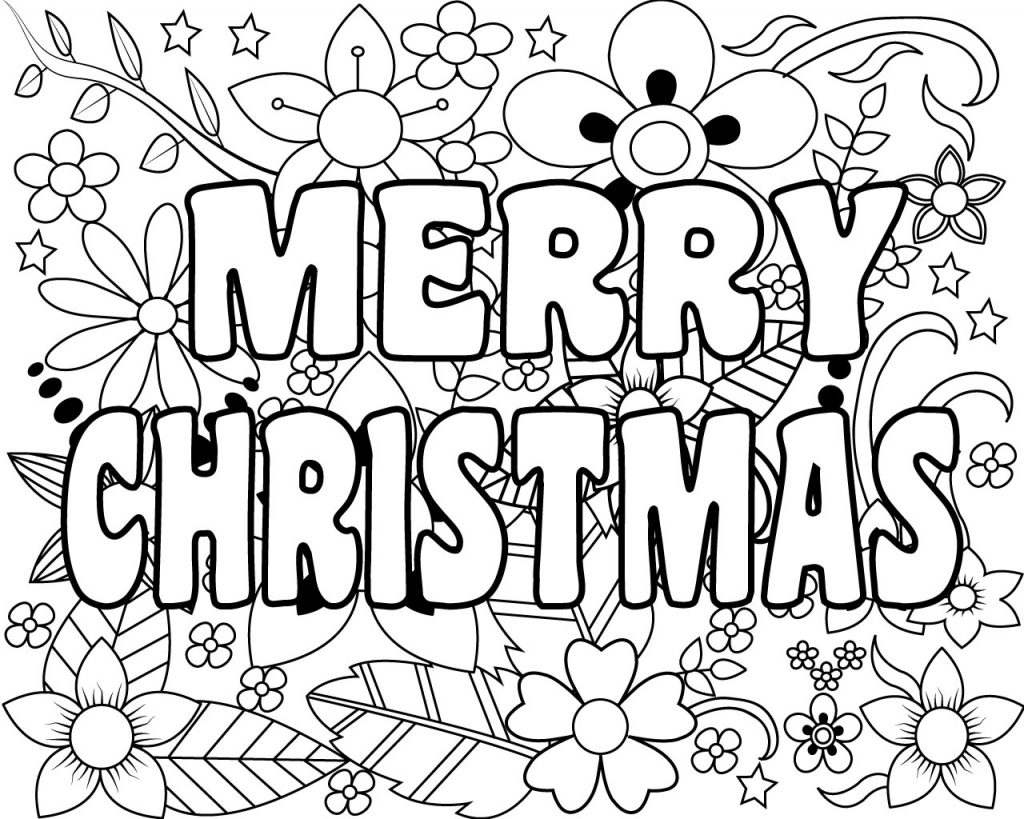Printable Merry Christmas Coloring Pages For Kids, Adults ...