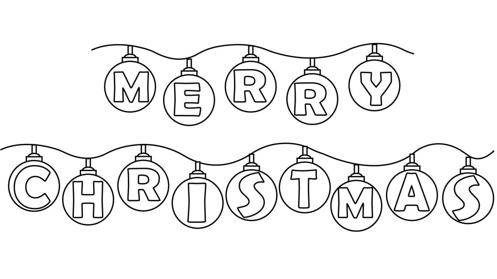 free merry christmas coloring page
