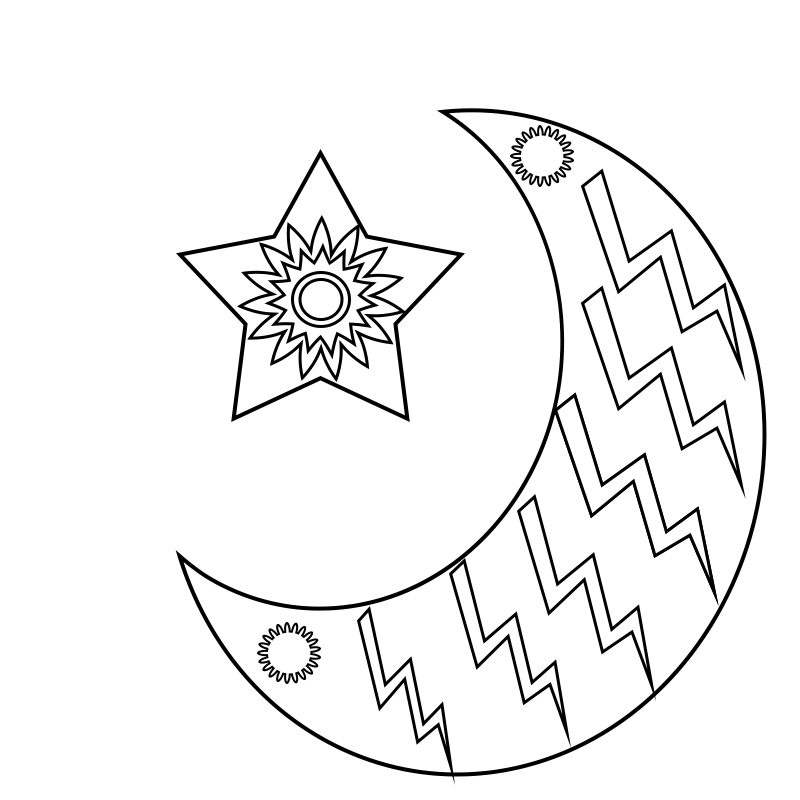 Moon Coloring Pages for Adults