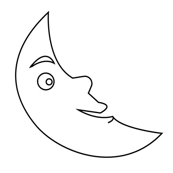 Moon Coloring Pages for Preschoolers