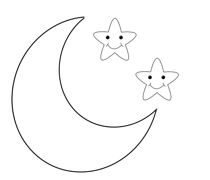 Moon Coloring Pages for Toddlers